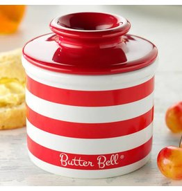 Butter Bell Crock Candy Apple Red Striped