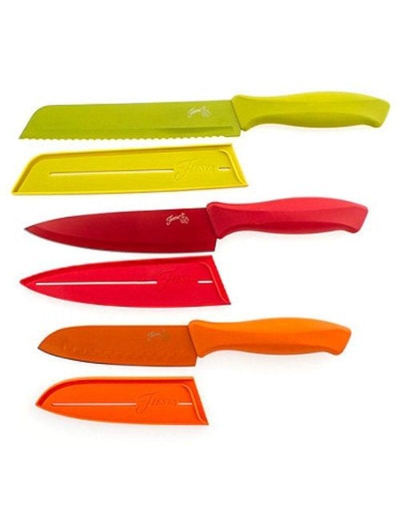 6 pc Fiesta® Muti Color Chef Knife Set