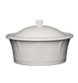Large Covered Casserole 90 oz White