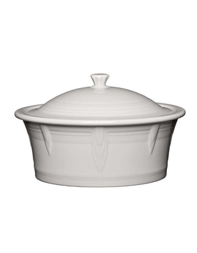 Large Covered Casserole 90 oz White