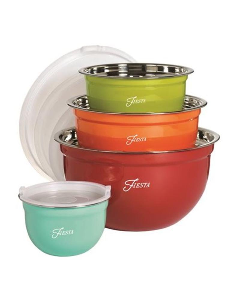 8 pc Fiesta Mixing Bowl Set
