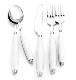 5 pc Flatware White