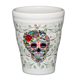 Sugar Skull and Vine Tumbler