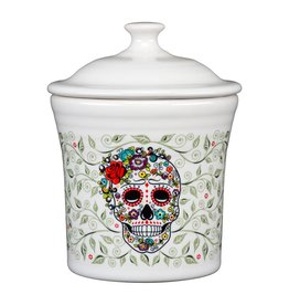 Sugar Skull and Vine Utility/Jam Jar