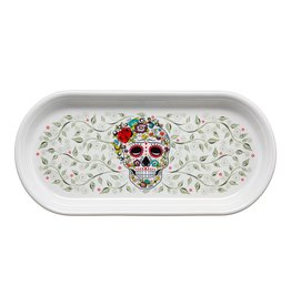 Sugar Skull and Vine Bread Tray