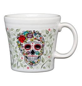 Sugar Skull and Vine Tapered Mug