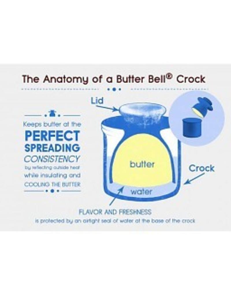 Butter Bell Antique Azure Blue