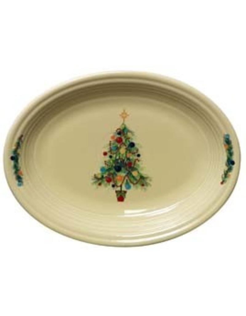"""Medium Oval Platter 11 5/8"""" Fiesta® Christmas Tree"""