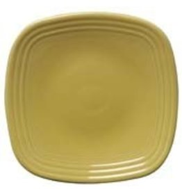 "Square Salad Plate 7 1/2"" Sunflower"