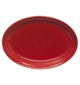 "Small Oval Platter 9 5/8"" Scarlet"