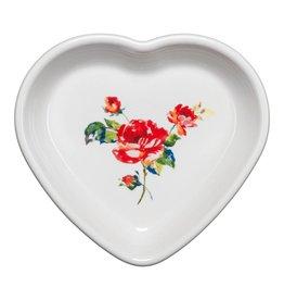 Medium Heart Bowl 17 oz Floral Bouquet
