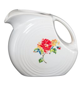 Large Disc Pitcher 67 1/4 oz Floral Bouquet