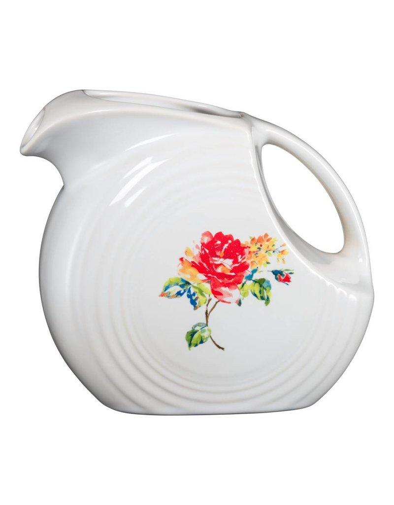 Large Disc Pitcher 67 1/4 oz Floral Bouquet