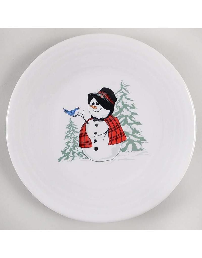 Luncheon Plate Snowlady