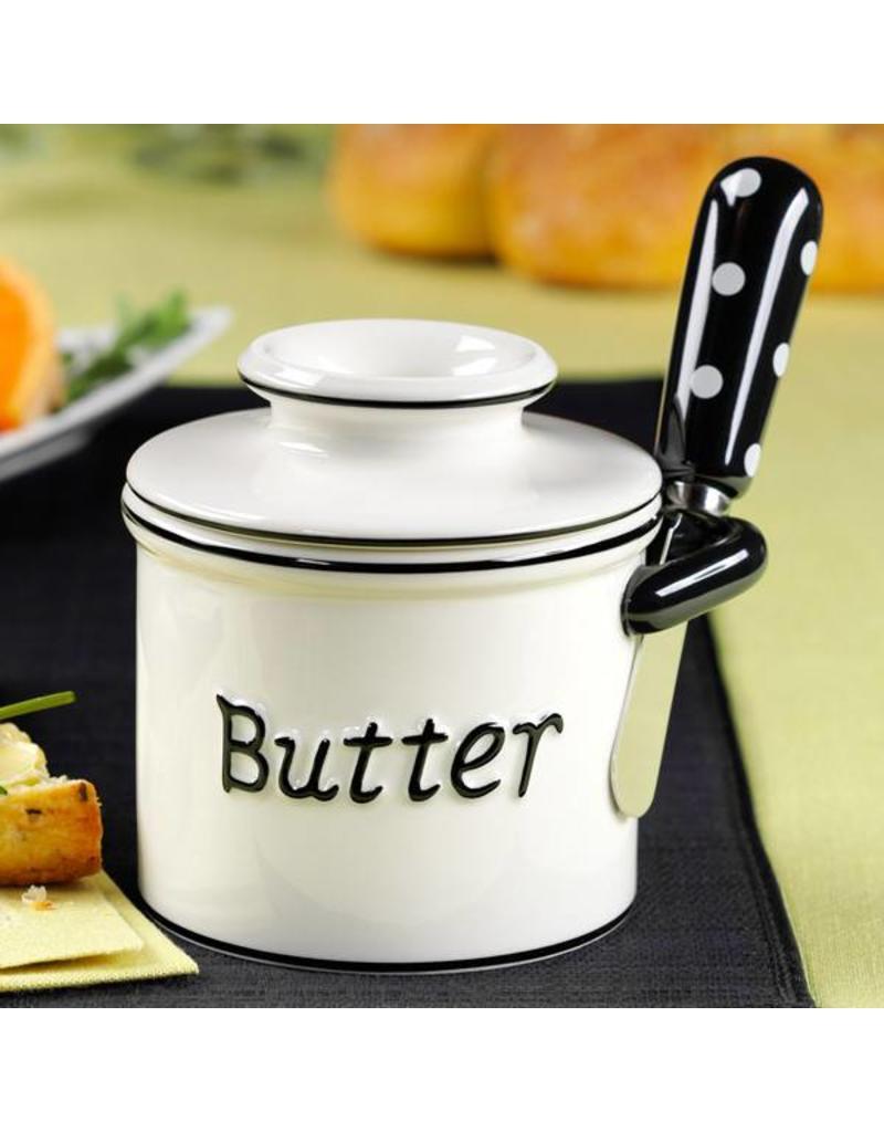 L. Tremain Butter Bell Parisian Polka Dot Spreader Set