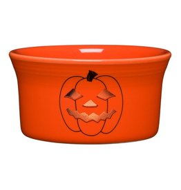 The Homer Laughlin China Company Ramekin 8 oz Halloween Spooky Glowing Pumpkin