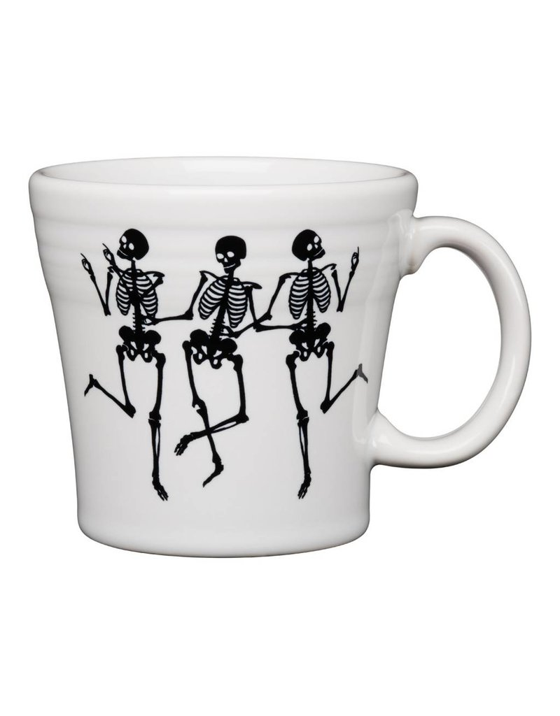 The Homer Laughlin China Company Tapered Mug Halloween Trio of Skeletons