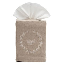 Napoleon Bee Wreath Beige tissue box cover
