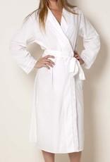 Cotton bathrobe with lace collar