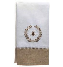 Napoleon Bee Wreath Beige Combo Guest Towel