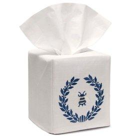 Napoleon Bee Wreath Navy tissue box