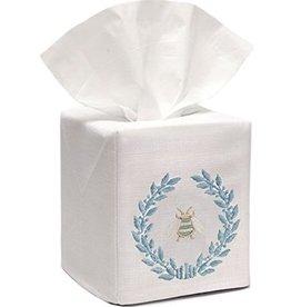 Napoleon Bee Wreath Duck egg blue tissue box  cover