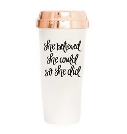 She Believed She Could Travel Coffee Mug