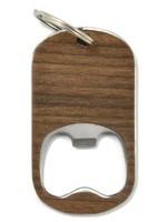 Wood Bottle Opener Keychain Walnut