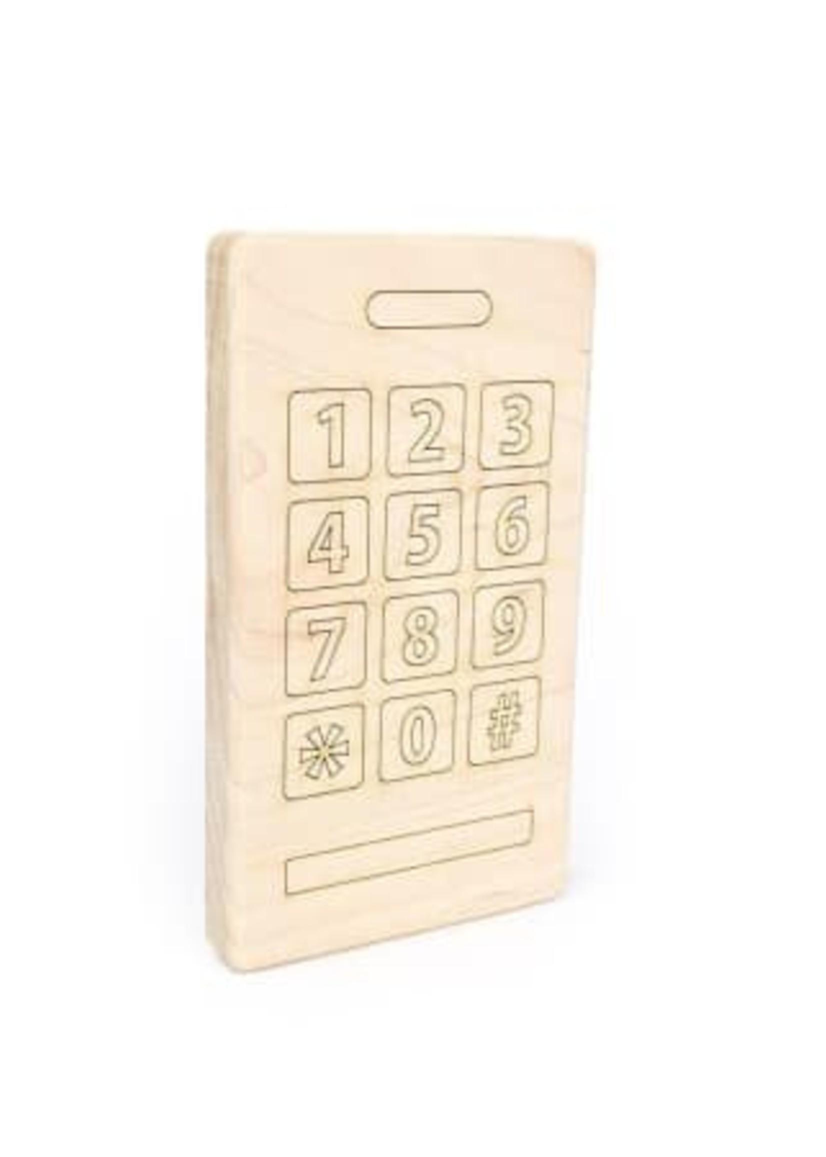 Smart Phone Wood Toy