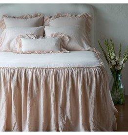 Linen Whisper Kidney Throw Pillow Pearl