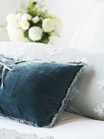 Helane Kidney Throw Pillow with Ruffle Midnight