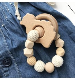 Natural Teether Rattle Beige