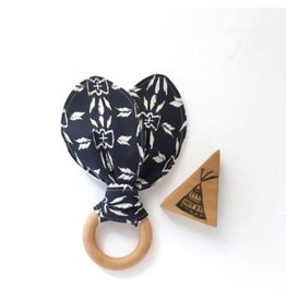 Navy Tribal Wood Teether