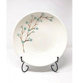 Blue Flower Branch Pottery Serving Bowl