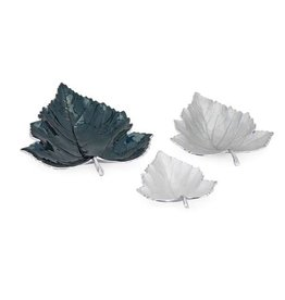 Enamel Decorative Leaf Tray