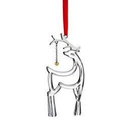 Glass Reindeer Ornament