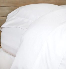 Bamboo Sheet Set Queen - White (Fitted, flat, & 2 standard pillowcases)
