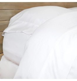 Bamboo Sheet Set King - White (fitted, flat, & 2 king pillowcases)