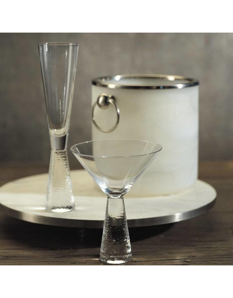 Livogno Martini Glass on Hammered Stem