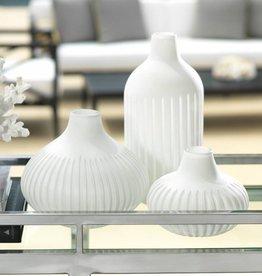 Puerto Galera White Glass Vase