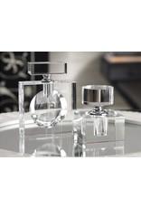Modern Morocco Glass Perfume Bottle- Cube, Min. 1