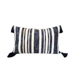 Denim Stripe Pillow 16x26