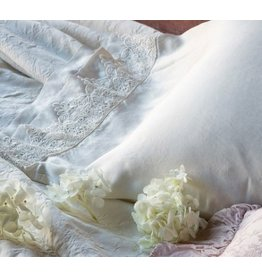Satin King Pillowcase with Venise Lace Trim