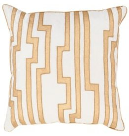 Velocity Pillow 18x18 Gold and White