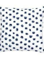 Thumbprint French Blue/Indigo Embroidered Pillow 20x20