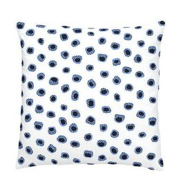 Thumbprint French Blue/Indigo Embroidered Pillow 20x20