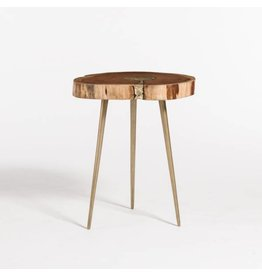 Vail Molten End Table - Natural with Bronze Fill
