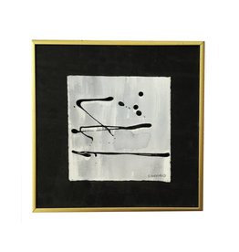 Sally Threlkeld mini black art gold frame