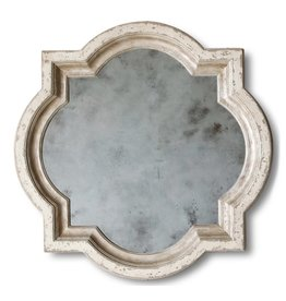 Lyon Mirror - Stone and Silver Finish