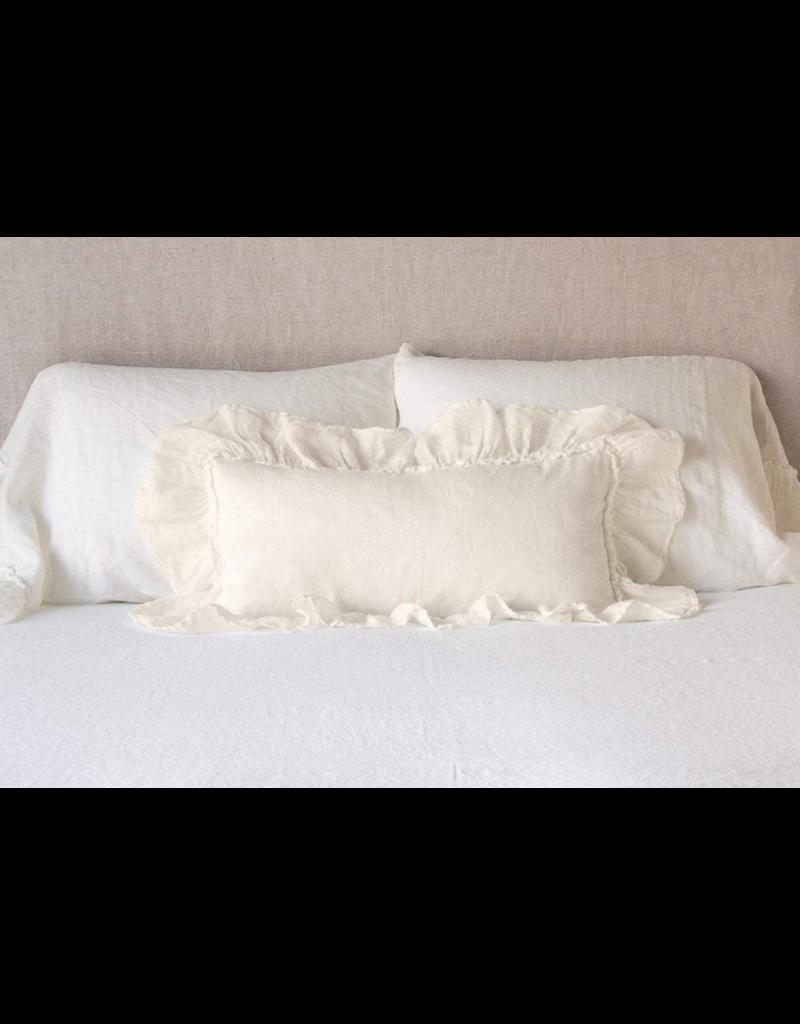 Linen Whisper Kidney Throw Pillow